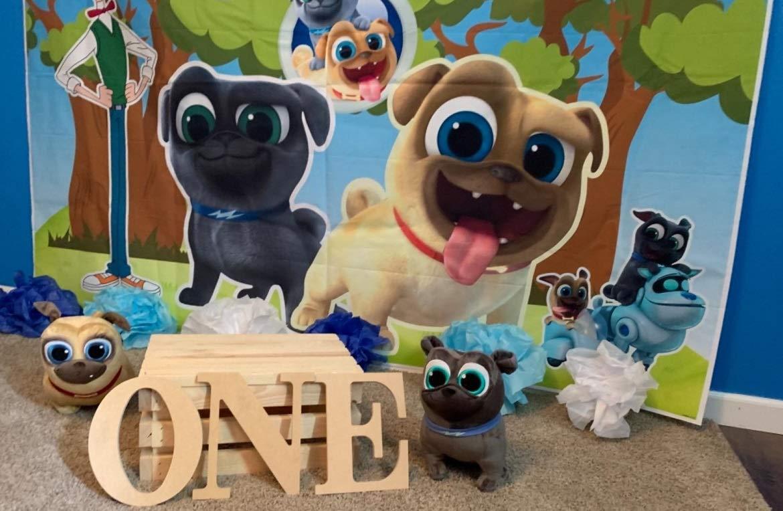 Daniu 7x5FT Buon compleanno bellezza e la bestia sfondo foto puntelli personaggio dei cartoni animati Pincess Wild Animal per bambini Studio Birthday Party
