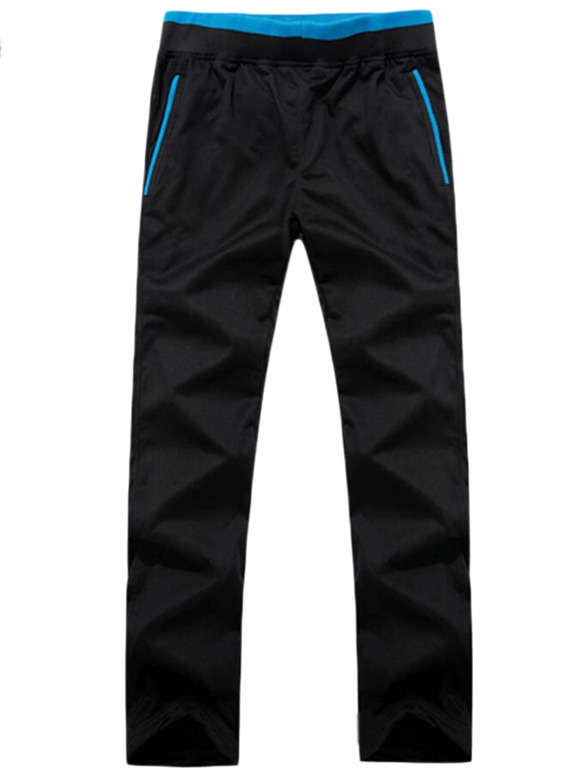 YUNY Mens Loose Light Weight Jersey Sweatpant Jogger Trousers Black US XL