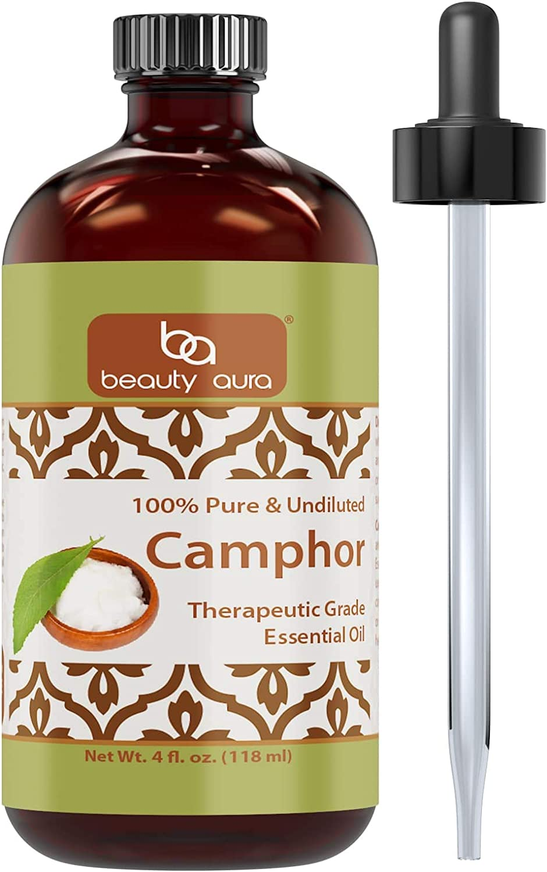Beauty Aura 100% Pure & Undiluted Camphor Therapeutic Grade Essential Oil 4 fl Oz