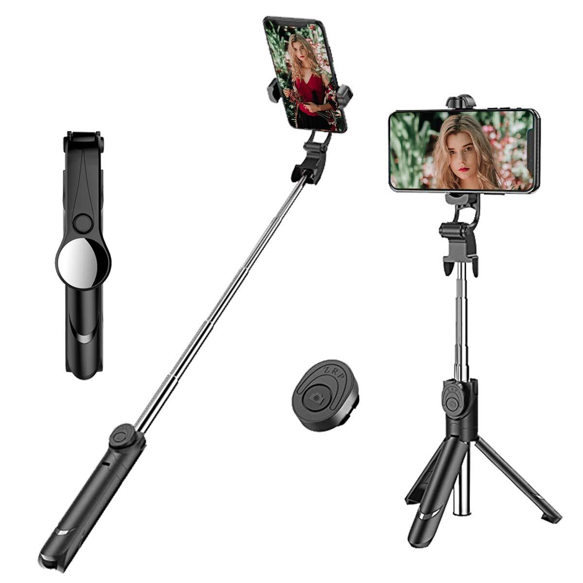 LATEC Selfie Stick Stativ Ausziehbarer Bluetooth Selfie Stick Tragbares Einbeinstativ mit Drahtloser Fernbedienung 2 in 1 Multifunktionsstativ f/ür 3,5-6 Zoll Smartphones