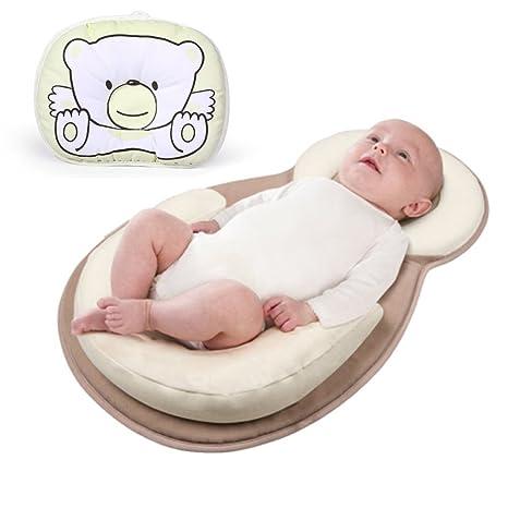 Amazon.com: Bebé recién nacido anti Roll almohada de apoyo ...