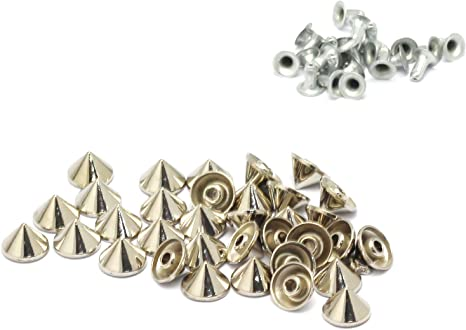 10 x Spike Decorative rivets 2 colors easy set-up Leather craft