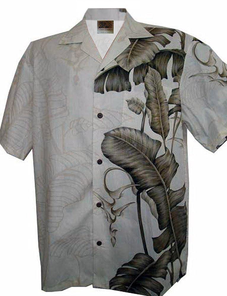 100/% Cotton WinnieFashion COOL Hawaiian Banana Leaf Aloha Shirt/ USA