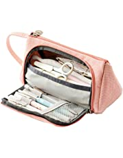 Kaxich Large Capacity Pencil Case Canvas Pencil Pouch with Handle Pen Holder Stationery Box for Boys and Girls Makeup Cosmetic Bag Can Hold More Than 50 Pens