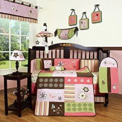 Geenny Boutique Floral Dream Girl's 13 Piece Baby Crib Bedding Set