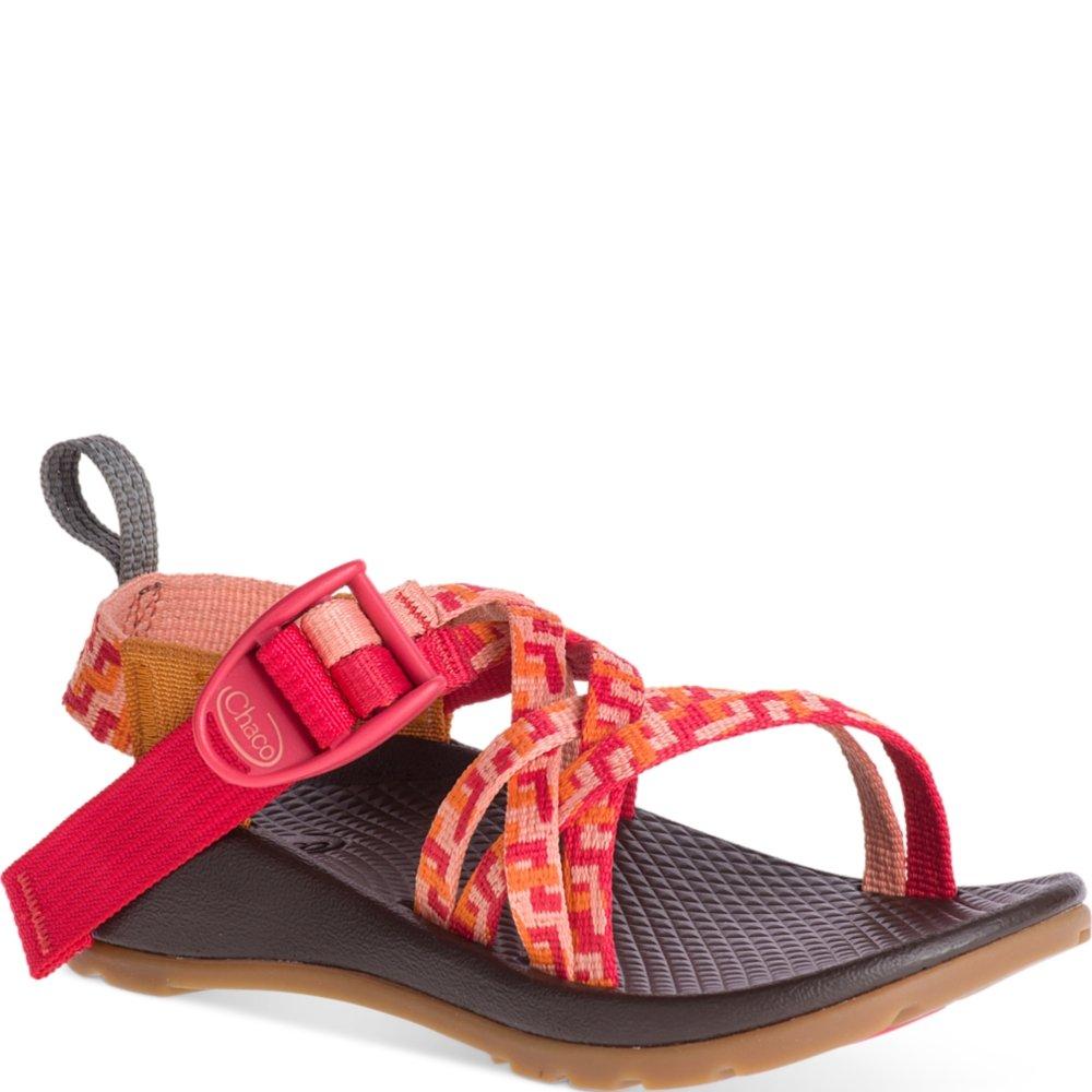 Chaco Girls' ZX1 Ecotread Sport Sandal, Helix Peach, 2 Medium US Little Kid