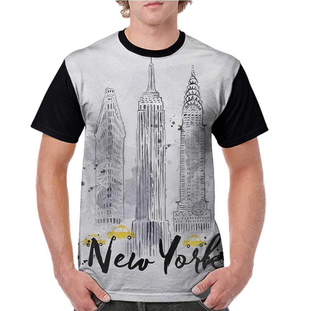 a3a28b80ec8e2 Amazon.com: crabee Women T Shirts Fashion,Watercolor,Skyscrapers ...