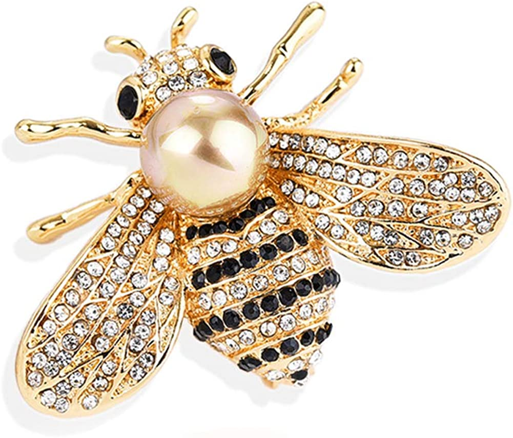 Gleamart Honey Bee Broche Animal Strass Insectes pour Femmes Fille