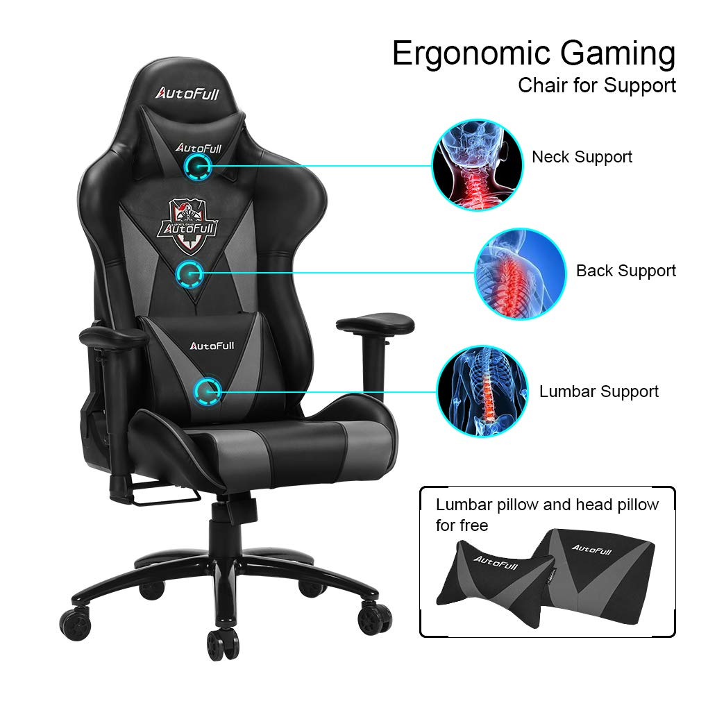 Amazon.com: AutoFull Silla de juegos para computadora ...