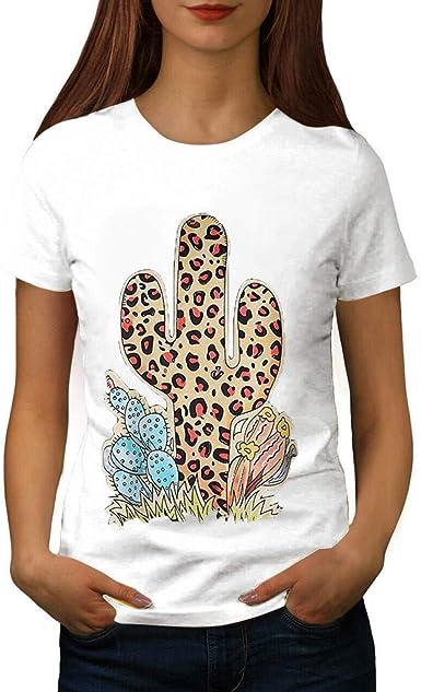 Sylar Camisetas Mujer Verano Camisetas De Manga Corta Mujer Bluas De Mujer Cuello Redondo Moda Camisetas Mujer Estampado De Cactus Camisa Tallas Grandes Casual: Amazon.es: Ropa y accesorios