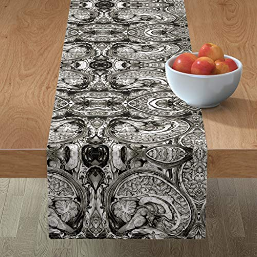 Table Runner - Brains Anatomy Black and