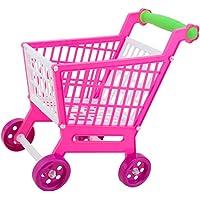 MagiDeal Miniature Shopping Supermarket Trolley Cart KIds Children Plastic Developmental Toy Fun Game