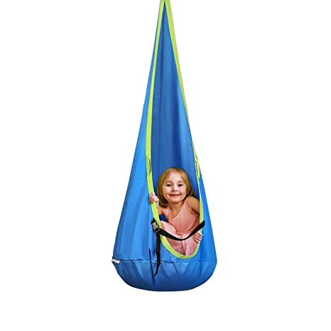 Pleasant Intey Kids Pod Swing Seat Child Hanging Hammock Chair For Outdoor And Indoor Use Camellatalisay Diy Chair Ideas Camellatalisaycom