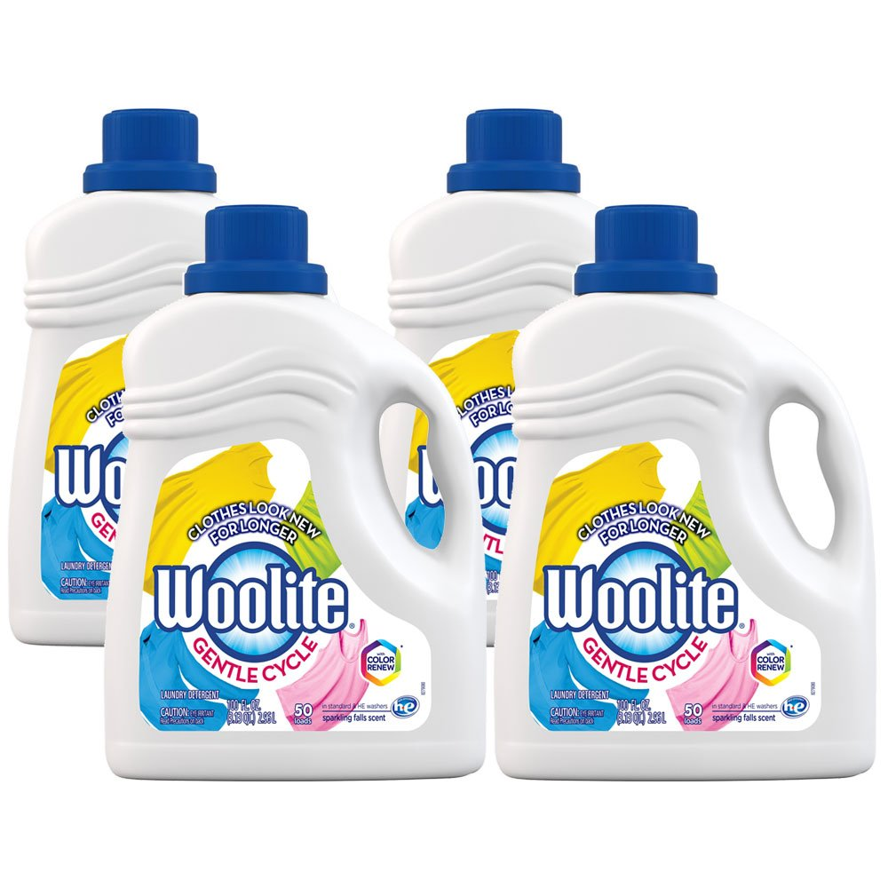 Woolite 0-62338-98113-0 Gentle Cycle Liquid Laundry Detergent with Color Renew, HE and Regular Washers, 400 fl. oz, 6.25 lb. (Pack of 4)
