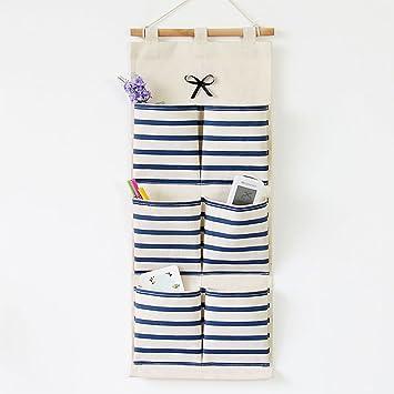 Hängeaufbewahrung stoff  Inwagui Stoff Hängeorganizer Taschen Streifen Hängeaufbewahrung ...
