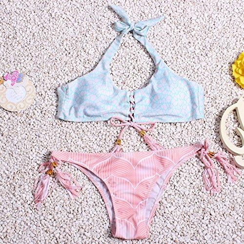 YONGYI Europa y los Estados Unidos moda bikini verano playa 2017 dos piezas de Europa dividida y los Estados Unidos bikini señoras borla bikini traje de baño
