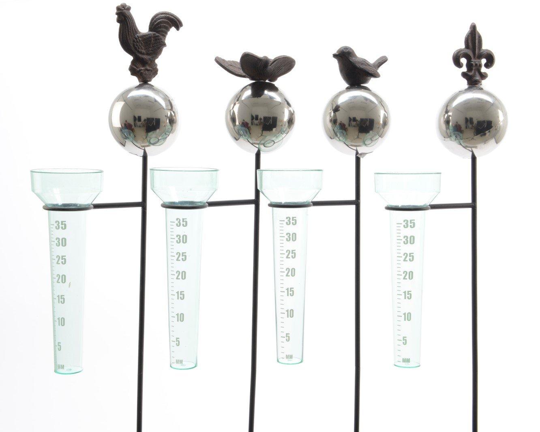 Niederschlagsmesser Regenmesser Metall Schmetterling Hahn Ranke Stü ckpreis