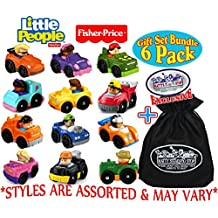 [Patrocinado] Fisher-Price – Vehículos pequeños, juego de regalo con bolsa de almacenamiento Matty's Toy Shop, 6 unidades, (estilos variados)