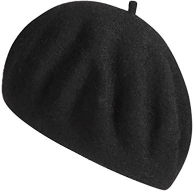 ZHWNSY Berets for Women Wool French Beanies Hat Solid Color Lightweight  Casual(Black) at Amazon Women's Clothing store