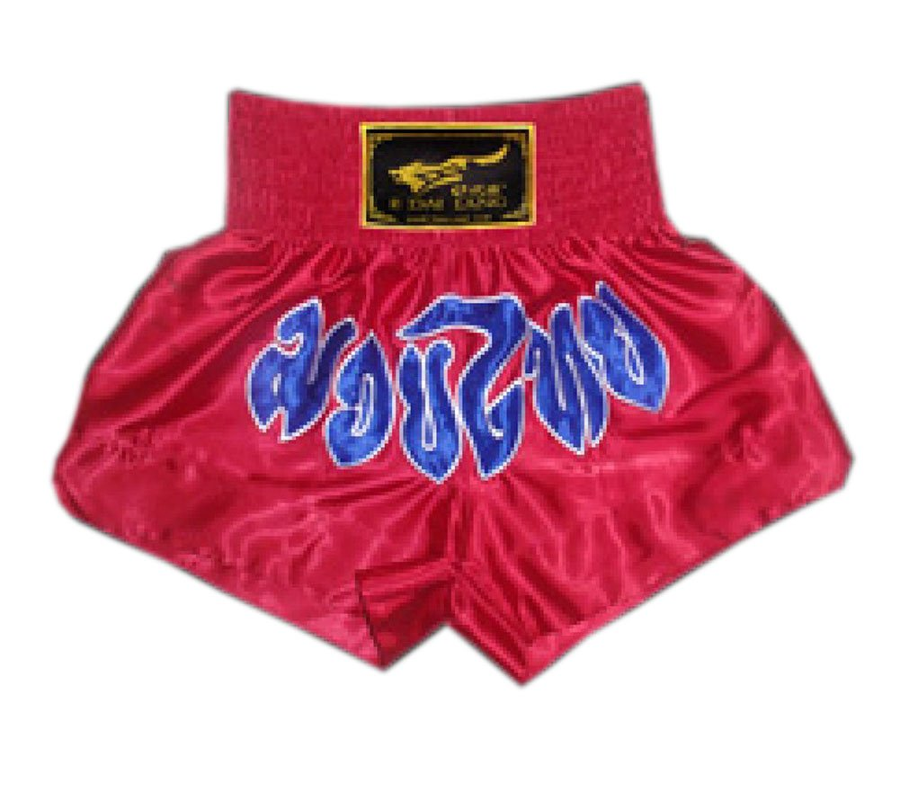 Red & Blue Muay Thai Boxing Trunks MMA Kick Boxing Shorts Fight Brief, XXXL PANDA SUPERSTORE PS-SPO2438345011-CHILLY00198