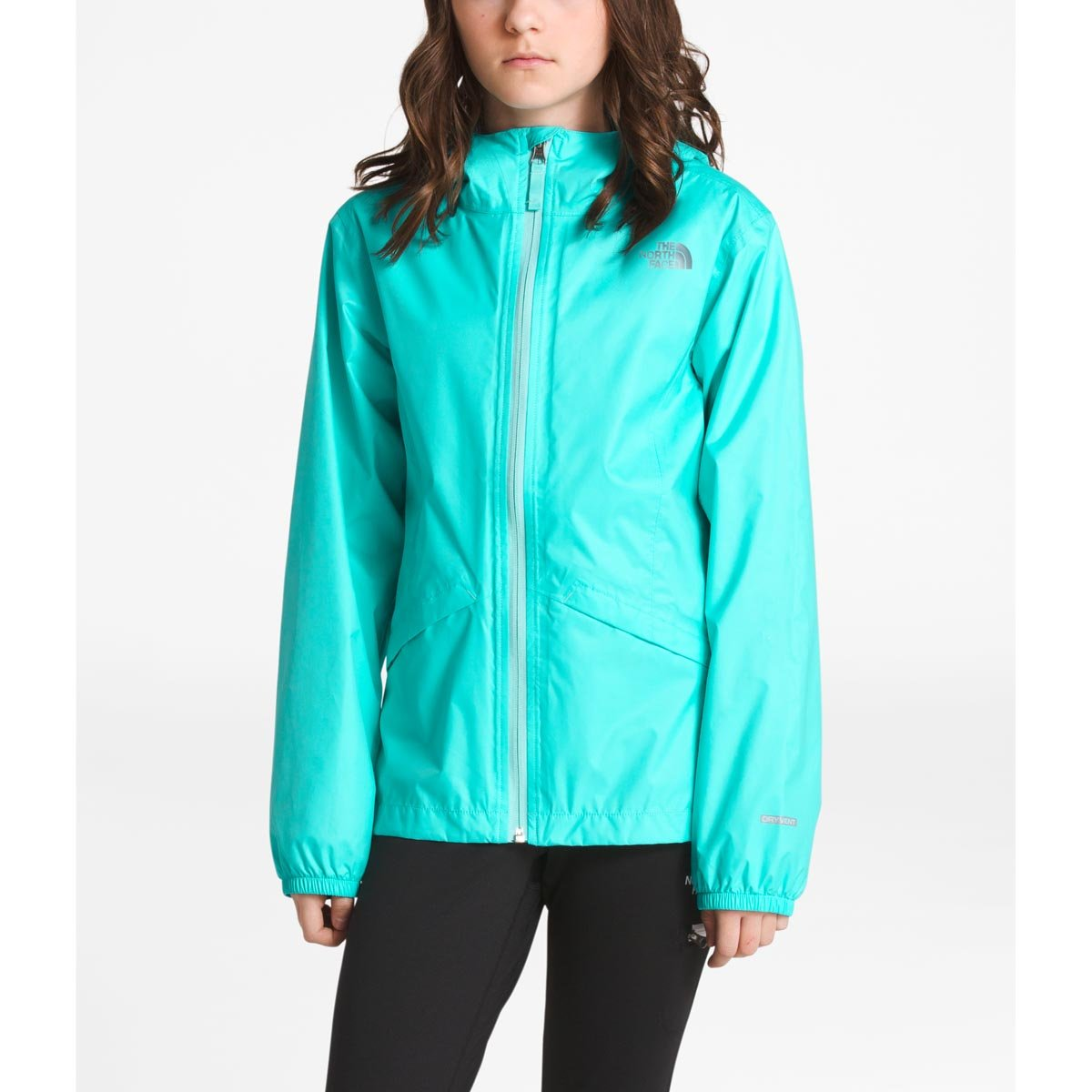 The North Face Girl's Zipline Jacket - Mint Blue - M