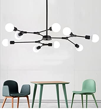 Moderne 9 Licht Kronleuchter Multi Einstellbare Kronleuchter Beleuchtung  Golden Sputnik Küche Insel Beleuchtung E26