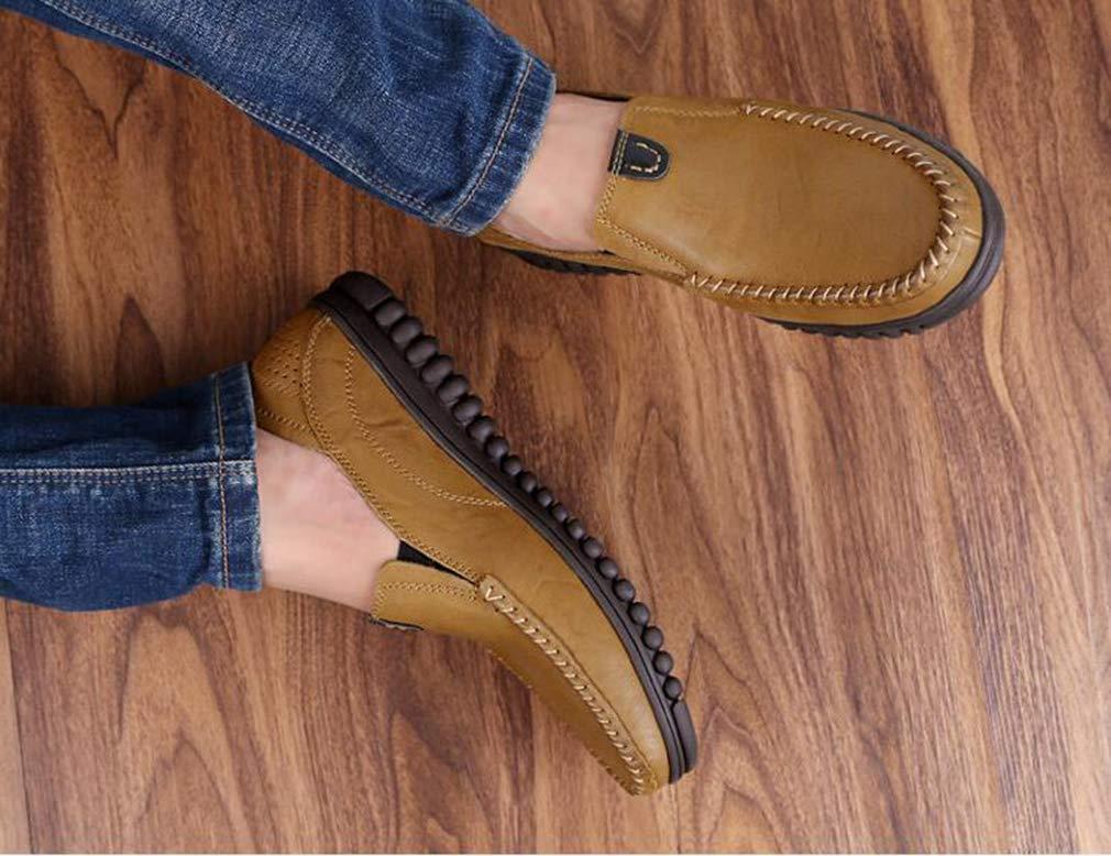 Hy Herrenschuhe, Leder-Feder- Herbstschuhe, SchSchuhe für Form-und Form-und Form-und Geschäftsschuhe, Loafers & Slip-Ons Lazy Schuhe,Khaki,37 9e21e1