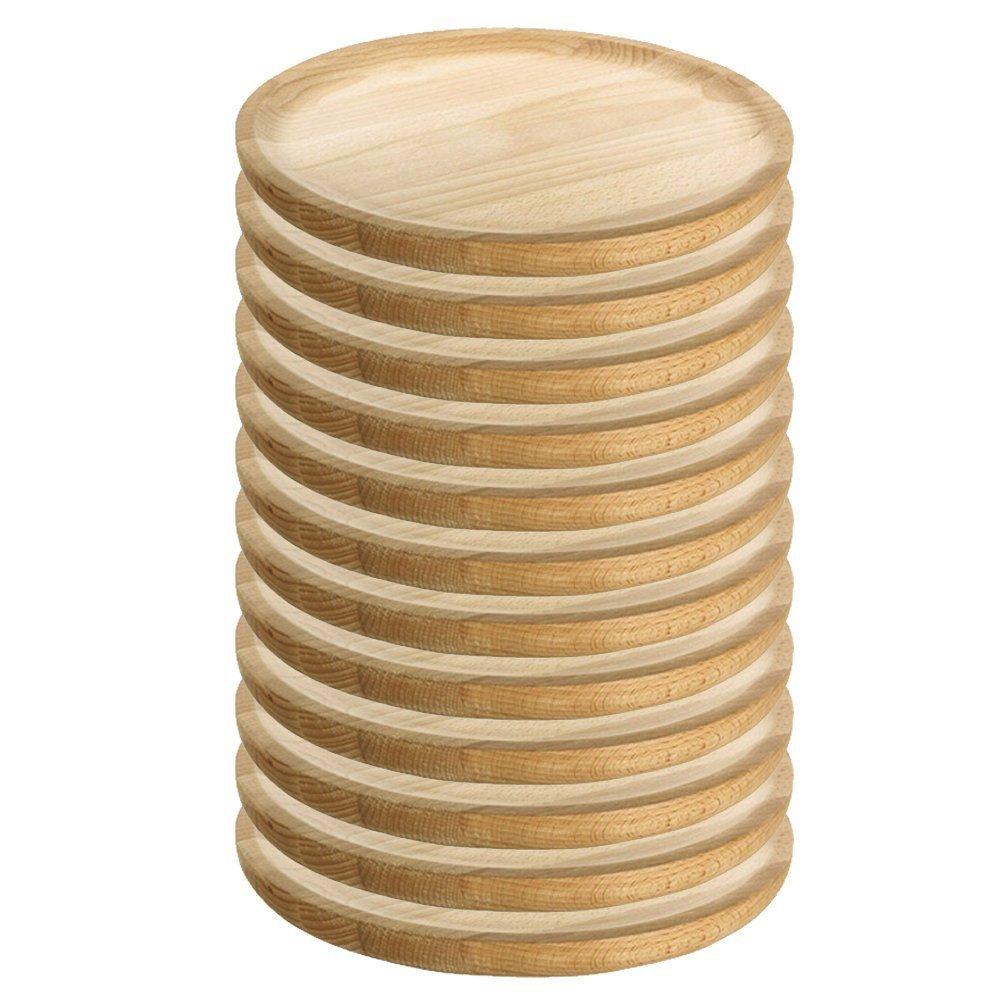Ruibal /Ø 16 cm Platos para Pulpo de Madera Set de 12