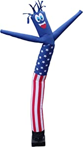 American Flag USA 20 Foot Tall Inflatable Tube Man Air Powered Waving Puppet for Outdoors, Replacement Dancer Only, Motor is NOT Included