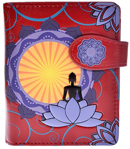 Shagwear Womens Zipper Wallet Buddha