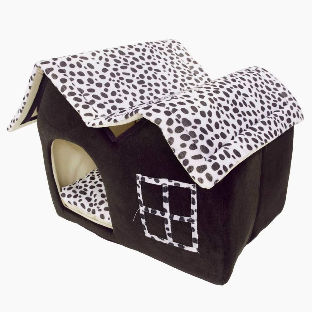 Amazing Super Soft British Style Pet House Size M Coffee