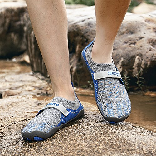 Blue 11 UK Water 5 Shoes 3 Socks Beach Yoga Quick Drying On Shoes Slip populalar Skin Unisex Swimming Comfortable for Barefoot wRqHgxTA