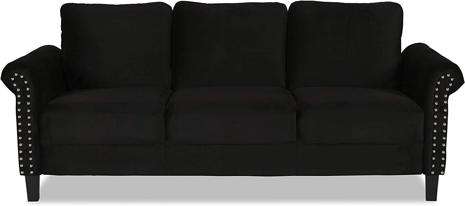 New Classic Furniture Alani Sofas and Couches, Black