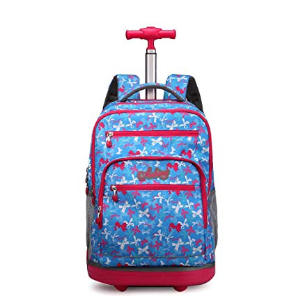 990eb7250058 Amazon.com: AUNLPB Laptop Backpack, Rolling Backpack with Wheels for ...