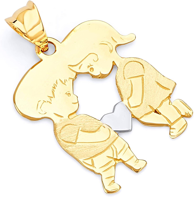 TWJC 14k White Gold Key to My Heart Charm Pendant