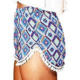 Sunm boutique Women's Shorts Beach Shorts Hot Shorts Hot Pants Casual Shorts Beach Summer Short Trousers Mini Shorts (Extra-Large, Royal Blue)