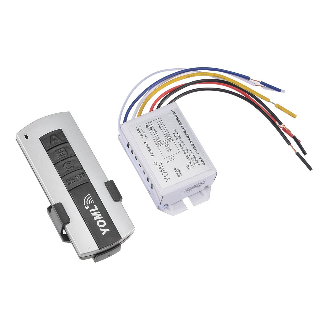 uxcell DC 12V 3 Channel RF Relay Wireless Digital Remote Control Switch 315MHZ Transmitter with Receiver for All Lights