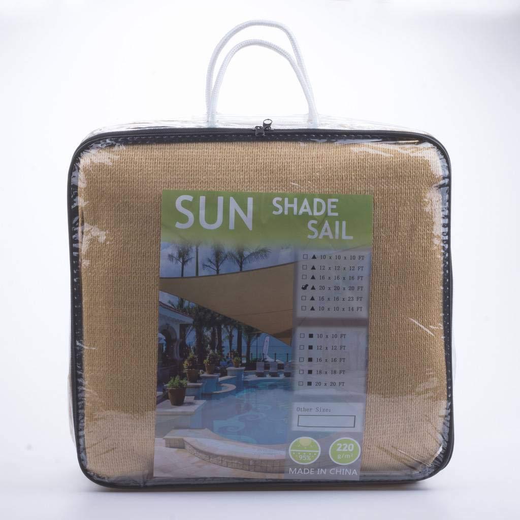 e.share20'X20'SunShadeSailUvTopOutdoorCanopyPatioLawnSquareDesertSandUVBlockforOutdoorFacilityandActivities for PatioBackyard by e.share (Image #4)