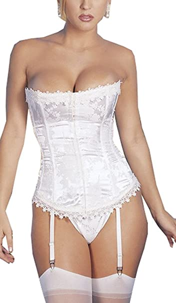 0a0f0ceecd5db Amazon.com  Rufei Womens Ivory Bridal Corset Lingerie Wedding Dress ...