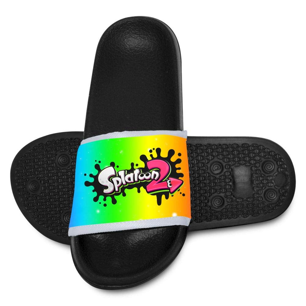 Unisex Sandals Splat Ink Fly Knit Anti-Slip Kids Slippers for Sneakerboy Girls Black Flip Flops