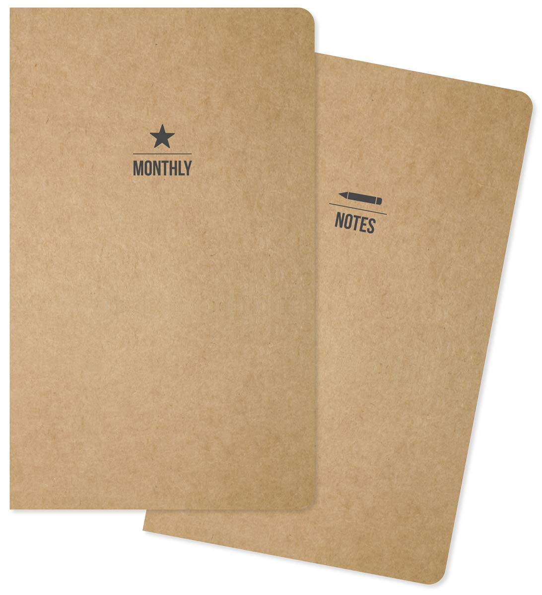 Carpe Diem Traveler's Notebook Insert Simple Stories TN Planner Refill, Pack of 2 (10201)