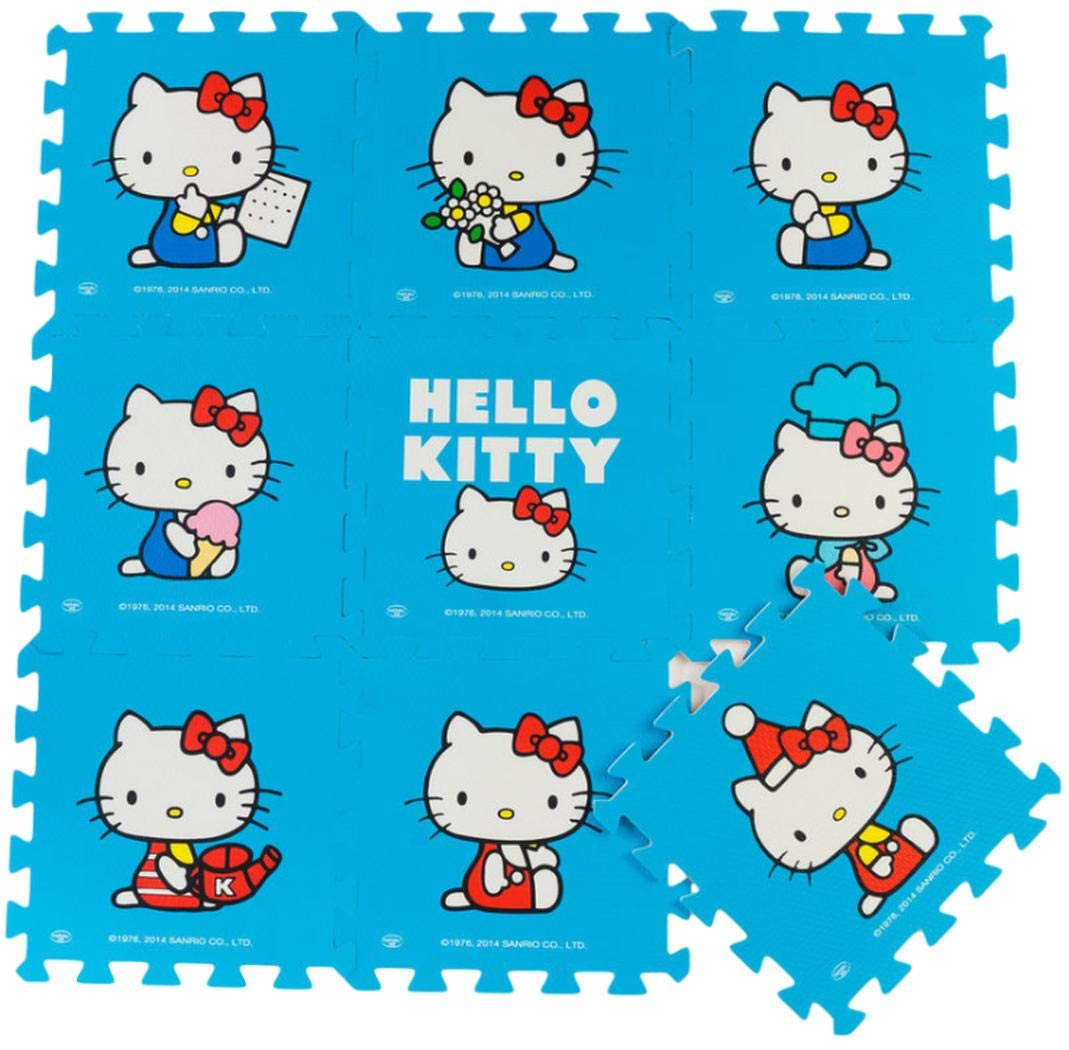 Hello Kitty Color Rosa Meitoku Alfombra de Goma EVA para ni/ños 9 alfombras de 30 x 30 x 1 cm