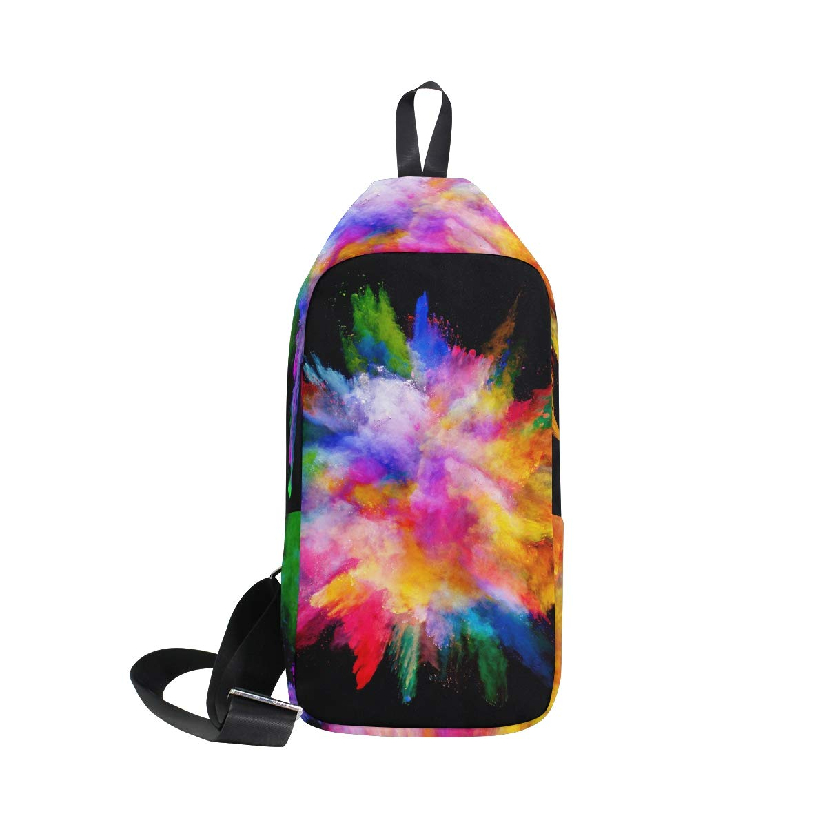 TFONE Colorful Rainbow Tie Dye Crossbody Bag Lightweight Chest Shoulder Messenger Pack Backpack Sling Bag