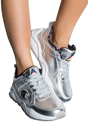 458d818164b Amazon.com  Champion Youth GS 93 Eighteen Nasa Metallic Sneaker In Silver   Shoes