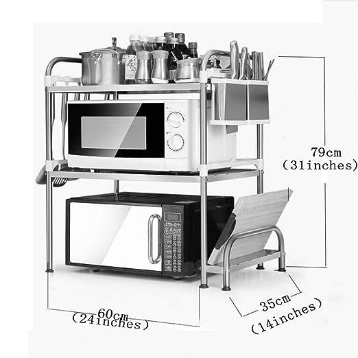 WWJHH-Kitchen shelf Horno de microondas + Soporte para Cuchillos ...