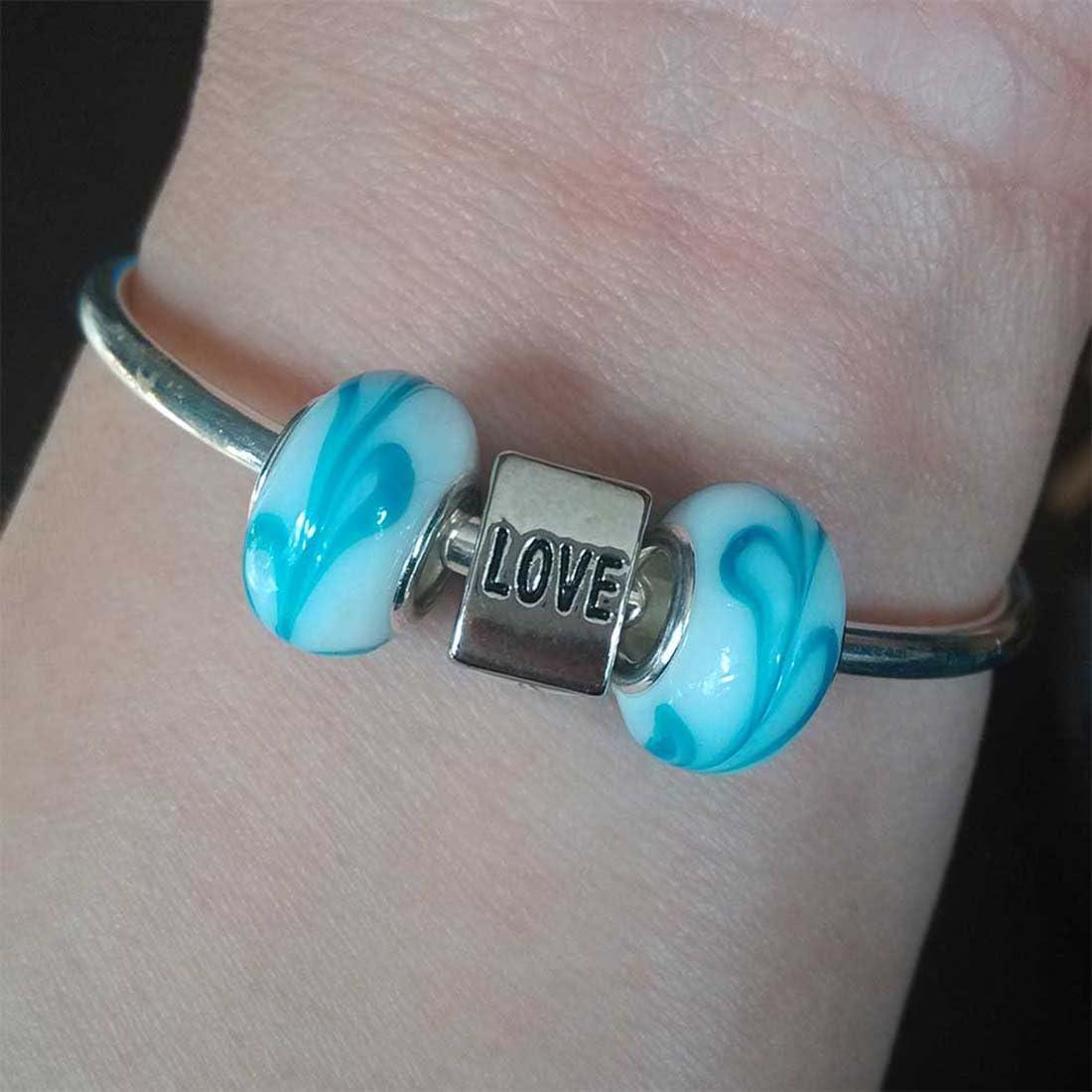 GiftJewelryShop Silver Plated Travel Egypt Pyramids Photo Love Charm Bead Bracelets European Bracelets