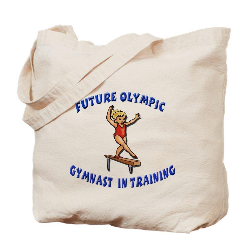 CafePress – 将来オリンピックGymnast in Tra – ナチュラルキャンバストートバッグ、布ショッピングバッグ B01LO0DTG6