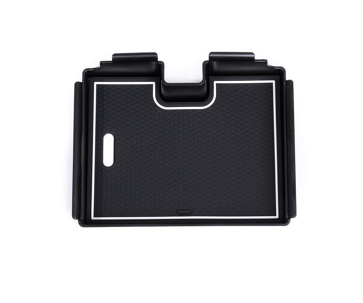 Contenitore portaoggetti da bracciolo in plastica per auto con tappetino antiscivolo