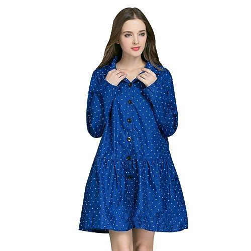 Ouvin - Abrigo impermeable - para mujer azul azul Large
