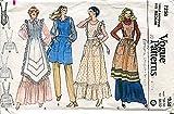 1970s Vogue Pattern 7256 Misses' Aprons, Vintage Size Medium (12-14)